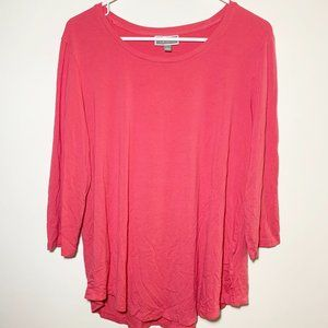 3/$25 JM Collection Pink 3/4 Sleeve Top